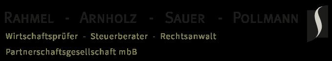Logo: Rahmel – Arnholz – Sauer – Pollmann